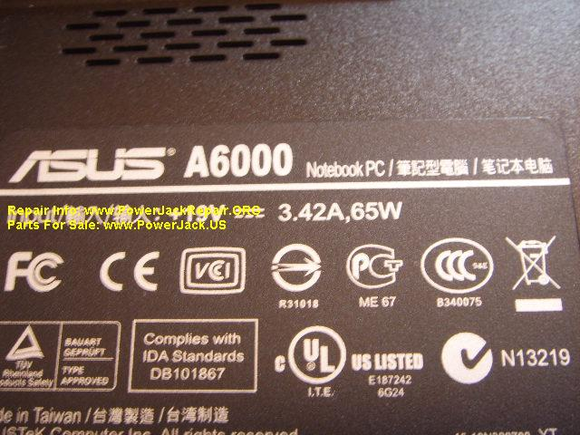 Asus A6000 Notebook PC