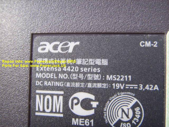 Acer Extensa 4420 series Model no MS2211 CM-2