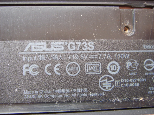 g73s g73sw asus dc power jack socket connector input port pin