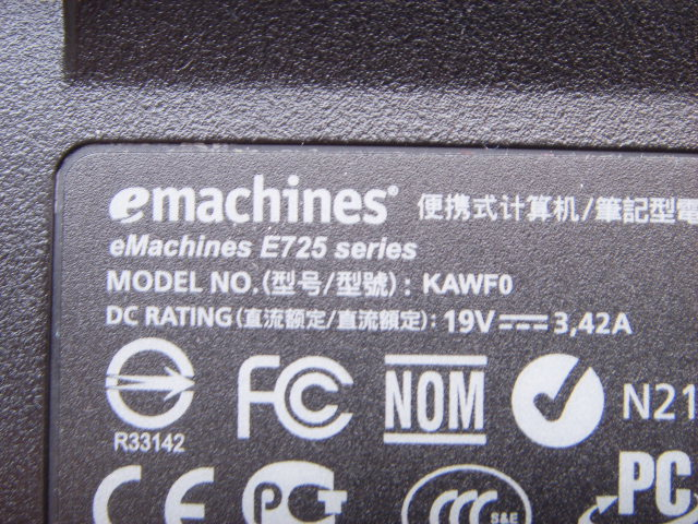 e725 kawf0 emachines dc power jack connector socket