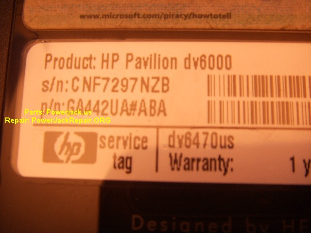 dv6470usa hp pavilion dv6000 series