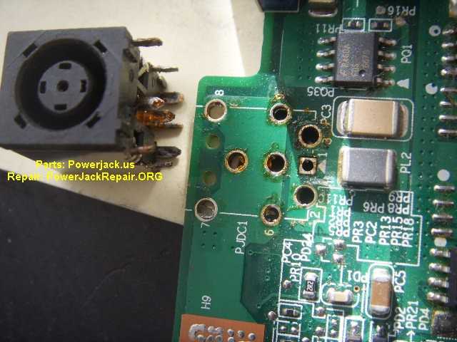 inspiron 9300 model of dell port connector socket replacement