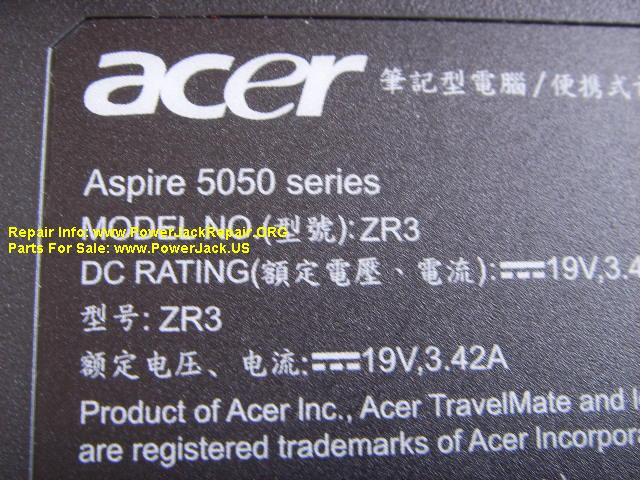 Acer Aspire 5050 3242 Series ZR3
