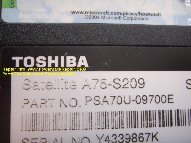 Toshiba Satellite A75-S209 Model