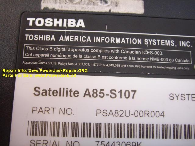 Toshiba Satellite A85 S107